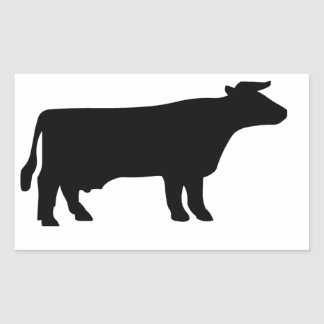 牛記号 長方形シール