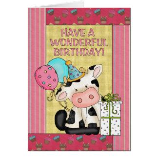牛誕生日の挨拶状 カード