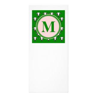 牛顔はzazzleパターン深緑色.pngをタイルを張りました ラックカード