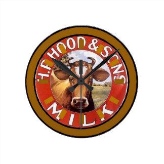 牛顔、ミルクのヴィンテージの文字盤 ラウンド壁時計