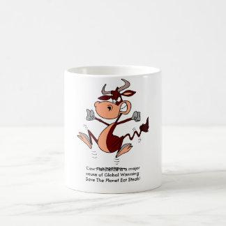 牛鼓腸は地球温暖化の専攻のな原因です: コーヒーマグカップ