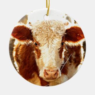 牛 セラミックオーナメント