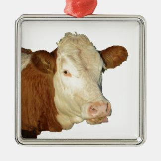 牛 メタルオーナメント