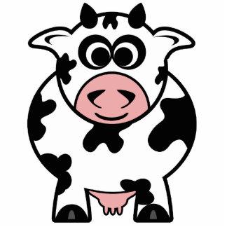 牛 写真彫刻(台付き)