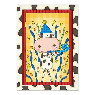 牛-卒業パーティー 12.7 X 17.8 インビテーションカード