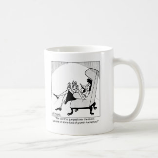 牛、月及び成長ホルモン コーヒーマグカップ