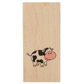 牛 木製 USBメモリー