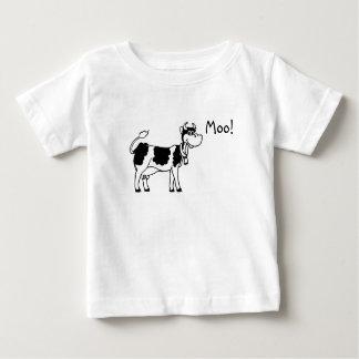 牛、Moo! ベビーTシャツ