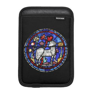 牡羊座のラム年-ステンドグラス-人力車の袖 iPad MINIスリーブ