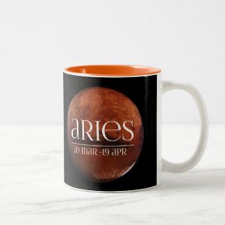 牡羊座の惑星のマグ(火星) ツートーンマグカップ
