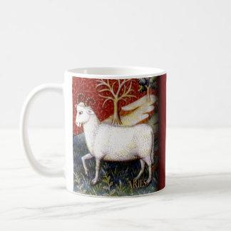 牡羊座の歴史的マグ コーヒーマグカップ