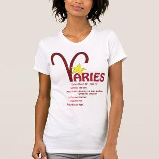 牡羊座の特性の女性タンクトップ シャツ