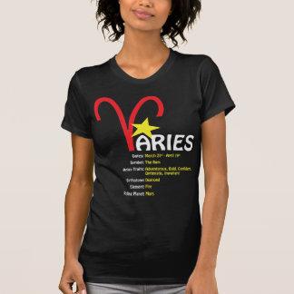 牡羊座の特性の女性暗闇のTシャツ シャツ