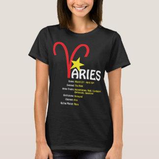 牡羊座の特性の女性暗闇のTシャツ Tシャツ