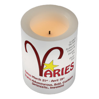 牡羊座の特性の蝋燭 LEDキャンドル
