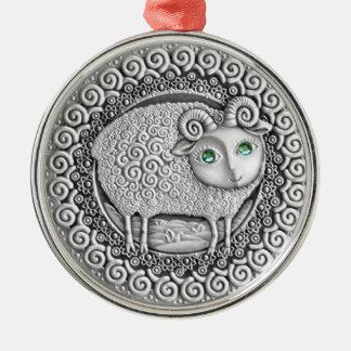 牡羊座の硬貨の優れたオーナメント メタルオーナメント