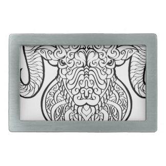牡羊座の芸術 長方形ベルトバックル