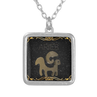 牡羊座の金印 シルバープレートネックレス