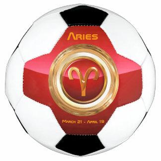 牡羊座の(占星術の)十二宮図の印 サッカーボール