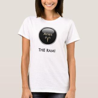 牡羊座ラムの占星術の星の印の女性Tシャツ Tシャツ