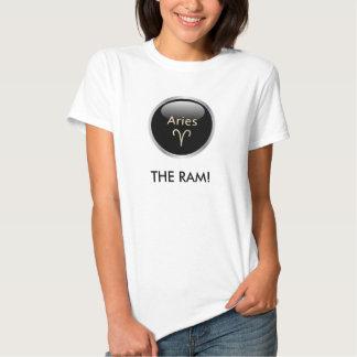 牡羊座ラムの占星術の星の印の女性Tシャツ TEE シャツ