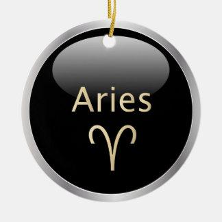 牡羊座ラムの占星術の星の印の(占星術の)十二宮図のオーナメント セラミックオーナメント