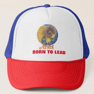 牡羊座- (占星術の)十二宮図のトラック運転手の帽子 キャップ