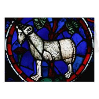 牡羊座-占星術-ゴシック様式ステンドグラスWindows - カード