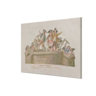 牢獄の破壊、1789年7月 キャンバスプリント