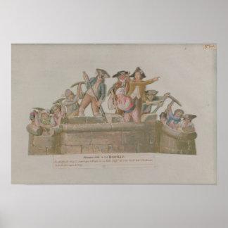 牢獄の破壊、1789年7月 ポスター