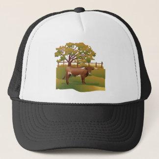 牧場の長角牛の牛 キャップ