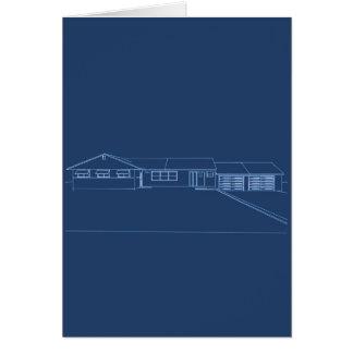 牧場スタイルの家: 青写真: カード