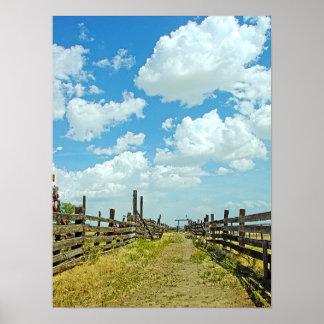 牧場畜舎HDR ポスター