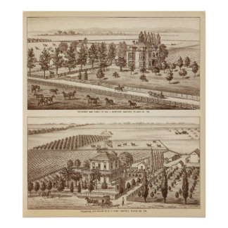 牧場、Hanford、Cal ポスター