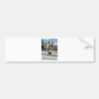 牧師が付いているヨーク展覧会の正方形の都市 バンパーステッカー