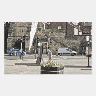 牧師が付いているヨーク展覧会の正方形の都市 長方形シール