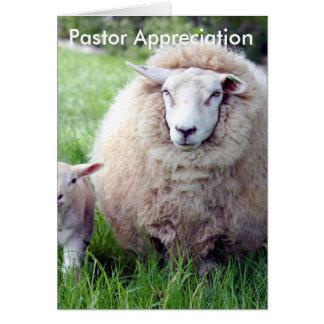 牧師の感謝カード グリーティングカード