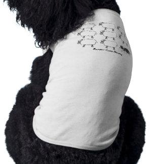 牧羊犬のTシャツを集めているボーダーコリー ペット服