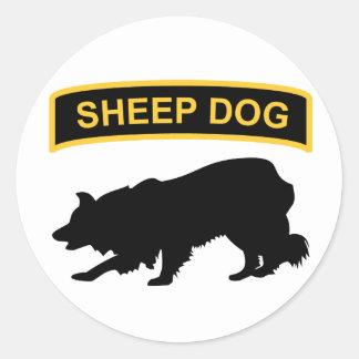 牧羊犬タブのステッカー ラウンドシール