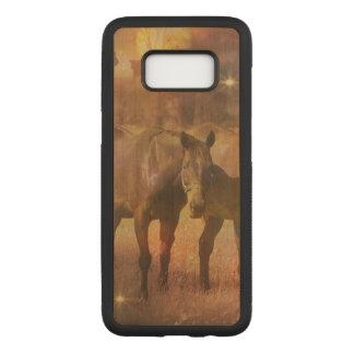 牧草を食べている西部の馬 CARVED SAMSUNG GALAXY S8 ケース