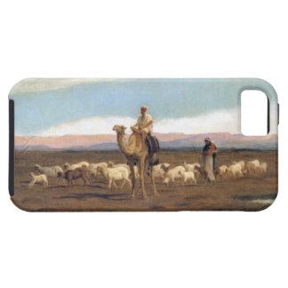 牧草を食べるために群を導きます(キャンバスの油) iPhone SE/5/5s ケース