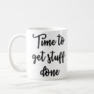 物によってされるマグを得る時間 コーヒーマグカップ