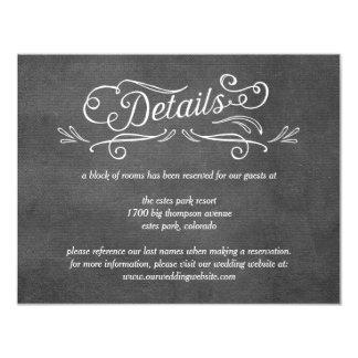 物惜しみしないスクロール編集可能色の結婚式の明細カード 10.8 X 14 インビテーションカード