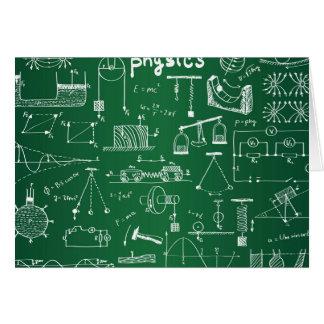 物理学の黒板パターン カード