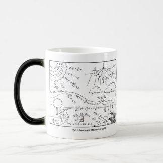 物理学者としてマグは世界を見ます- [右利き] モーフィングマグカップ