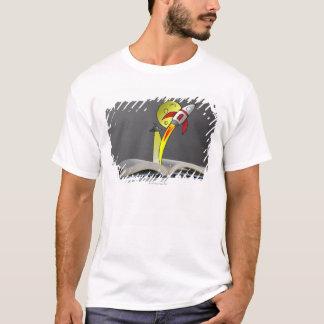 物語の本から現れる手描きの宇宙飛行船 Tシャツ