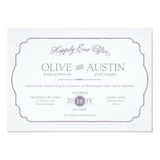 物語の本のロマンスの結婚式招待状 カード