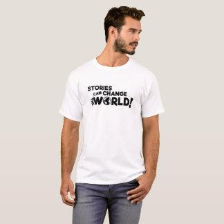 物語は世界(軽いワイシャツ)を変えることができます Tシャツ