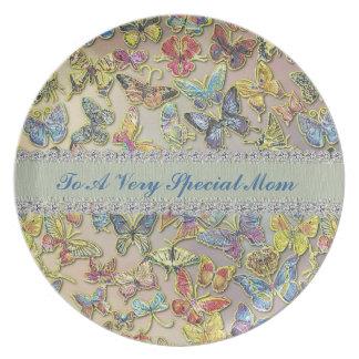 特別なお母さんの蝶コレクターのカスタムなプレート プレート