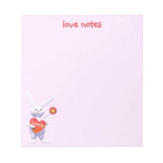特別なバレンタインのバニー ノートパッド